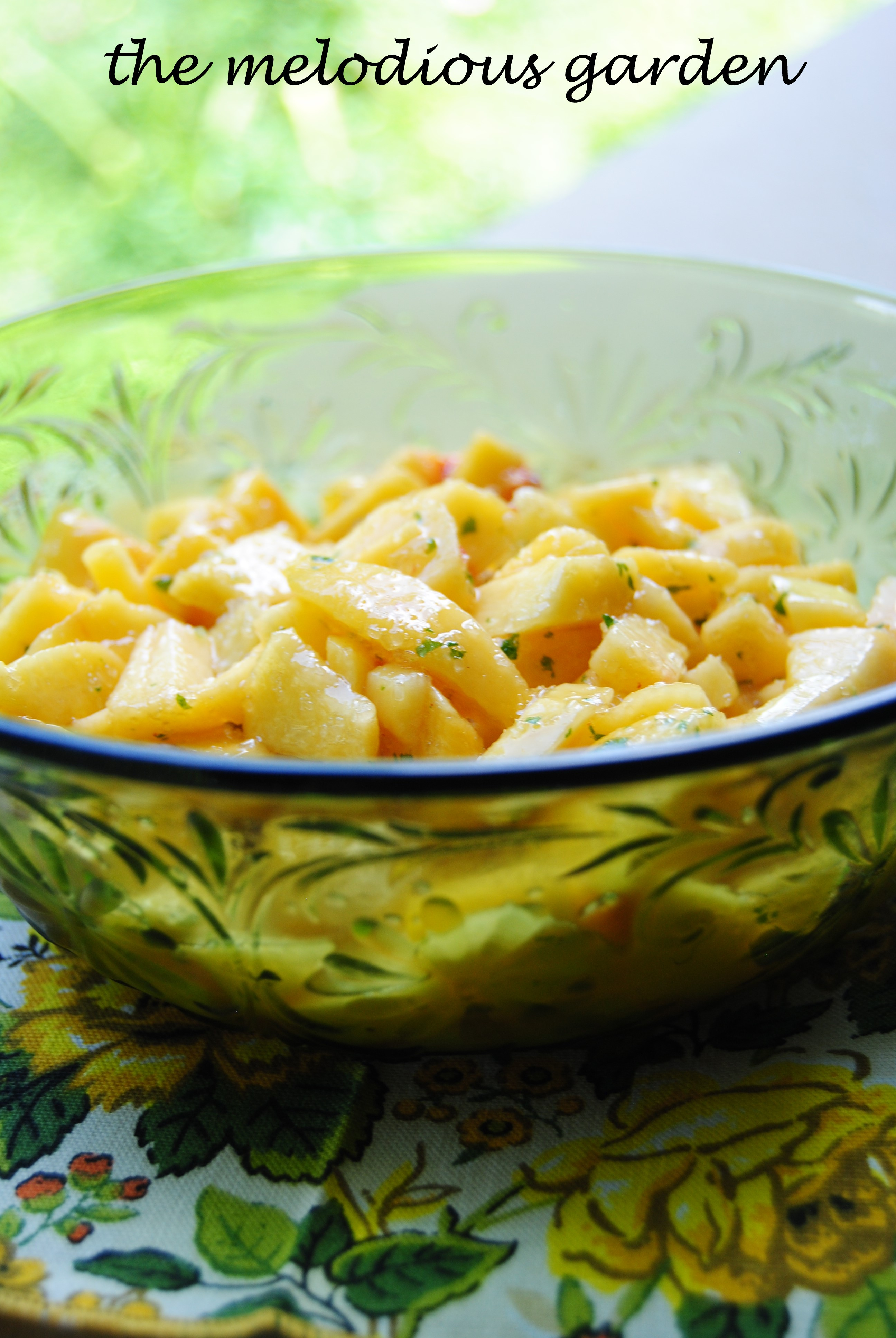 peaches with lemon verbena