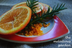 orange and rosemary