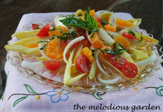 endive salad with basil