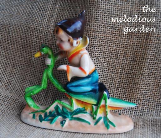 elf on praying mantis