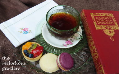 tea may with book